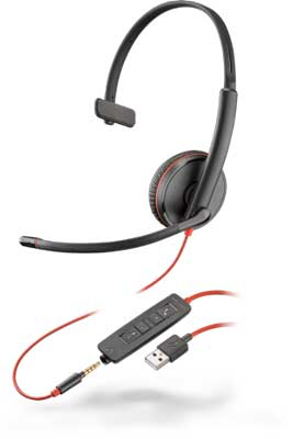Plantronics Blackwire C3215 Mono 3.5mm/USB-A Headset