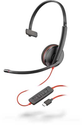 Plantronics Blackwire C3210 Mono USB-C Headset