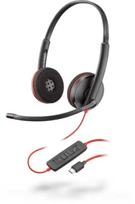 Plantronics Blackwire C3220 Stereo USB-C Headset