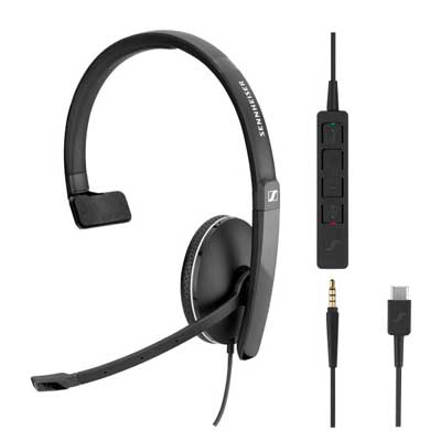 Sennheiser SC 135  Corded Mono UC 3.5mm/USB Headset