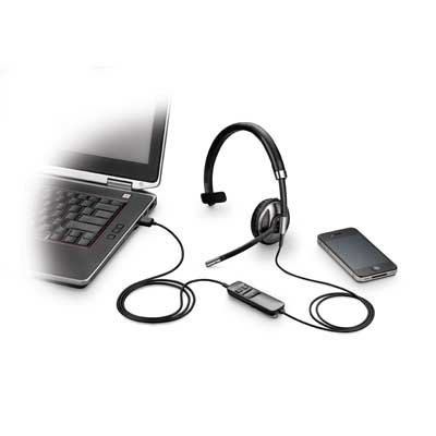 Plantronics Blackwire C710 Foldable USB Monaural Headset
