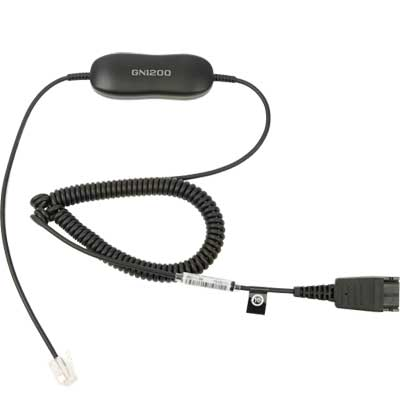 Jabra GN1200 Smart Cord 2m Curly Main Image